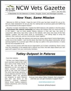 view of front page of Vets Gazette issue 7